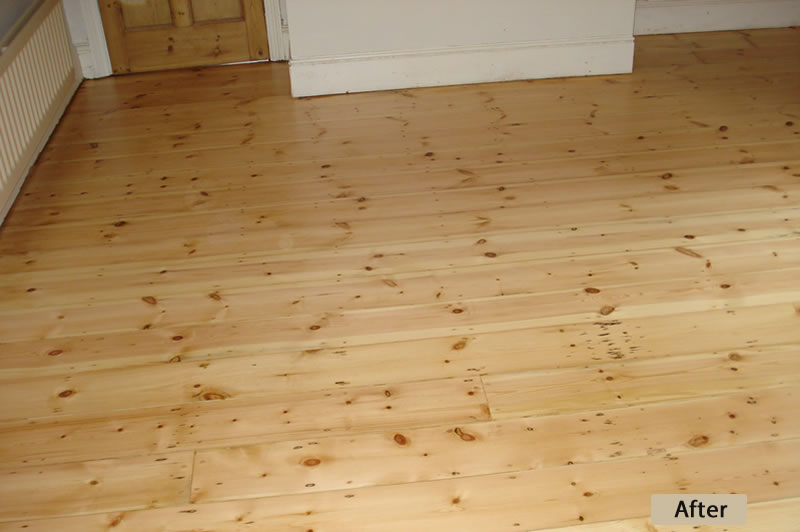 Pine Floor Repair After