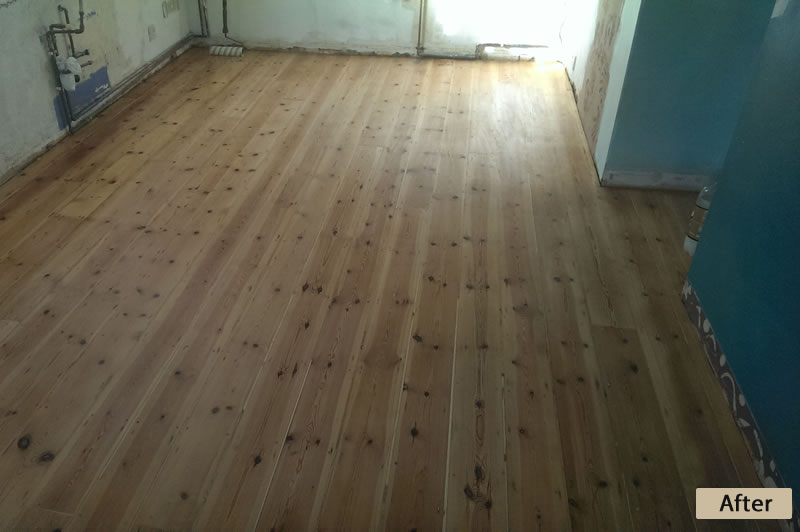 Pine Floor Hallway After